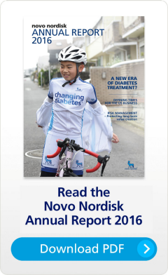 Novo Nordisk Annual Report 2016 cover