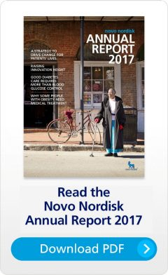 Novo Nordisk Annual Report 2017 cover