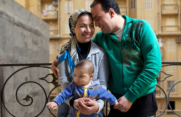 Walid Kobisi and his family, Walid has Haemophilia A, Egypt