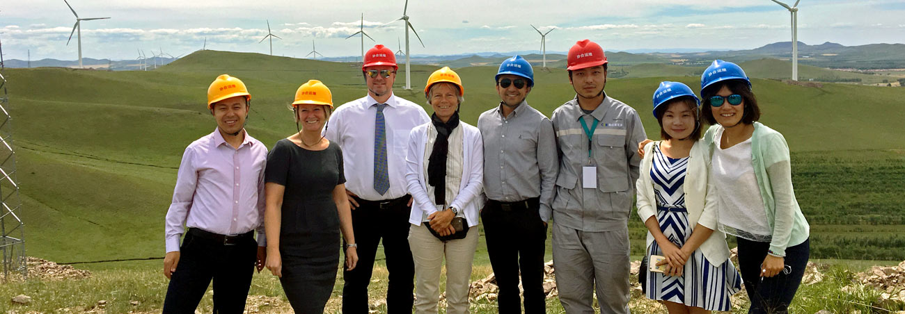 Wind farm producing clean electricity to our Tianjin production facilities in China