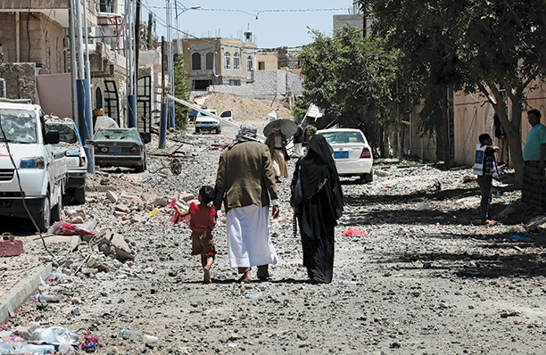 Damage to civilian properties, Yemen