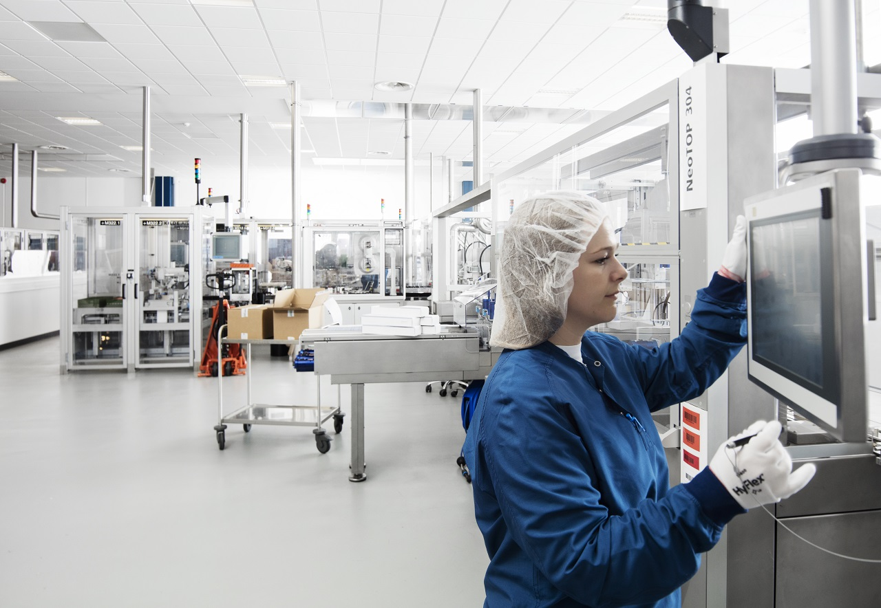 Novo Nordisk production in Kalundborg, Denmark
