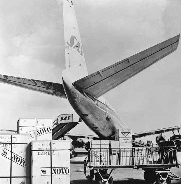 Novo Nordisk history, airfreight