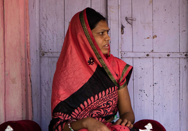 Pregnant woman from India